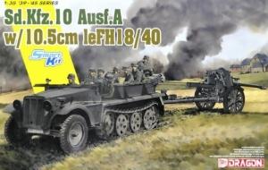 Sd.Kfz.10 and 10,5cm le.SH.18 model Dragon 6924 in 1-35