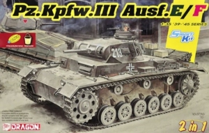 Pz.Kpfw.III Ausf.E/F Smart Kit 2 in 1 model Dragon 6944 in 1-35