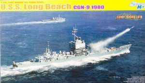 U.S.S. Long Beach CGN-9 1980 model Dragon 7135 in 1-700
