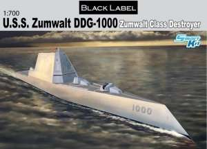 U.S.S. Zumwalt Class Destroyer DDG-1000 in scale 1-700
