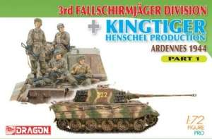 3rd Fallschirmjager Division and Kingtiger Henschel Production Part 1 scale 1:72