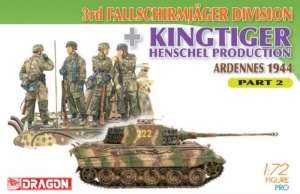 3rd Fallschirmjager Division and Kingtiger Henschel Part 2 in scale 1-72