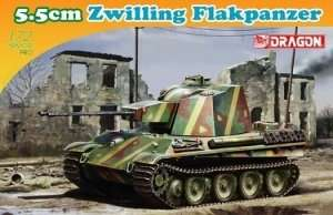 5.5cm Zwilling Flakpanzer in scale 1-72