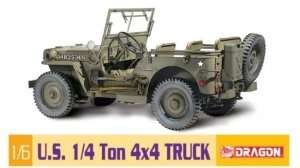 US 1/4 Ton 4x4 Truck in scale 1-6