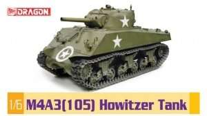 M4A3(105) Howitzer Tank in scale 1:6