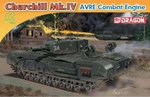 Churchill Mk. IV AVRE Tank model Dragon in 1-72
