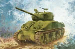 Tank Sherman M4A1 (76) W VVSS model Dragon in 1-72