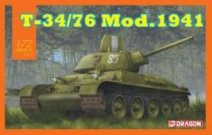 T-34/76 Mod. 1941 model Dragon 7590 in 1-72