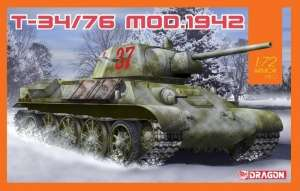 T-34/76 Mod.1942 model Dragon 7595 in 1-72