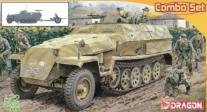 Sd.Kfz.251 Ausf.C and 3,7cm PaK 35/36 model Dragon in 1-72