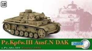 Pz.Kpfw.III Ausf.N DAK s.Pz.Abt.501 Tunisia 1943 - ready model 1-72
