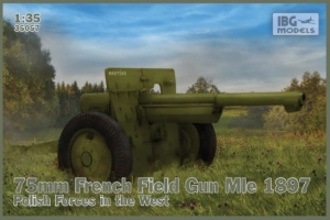 Model IBG 35057 75mm French Field Gun Mle 1897 Polish Forces in the West