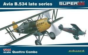 Eduard 4452 Dwupłatowiec Avia B.534 - 4 samoloty