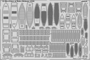 Prince of Wales lifeboats 1/350 for Tamiya kit - Eduard 53092