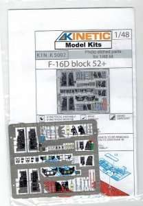 Photo etched parts for 1:48 model F-16D Block 52