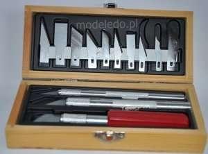 Excel 44282 Zestaw nożyków modelarskich w drewnianym pudełku
