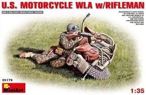 Model MiniArt 35179 U.S. MOTORCYCLE WLA w/RIFLEMAN