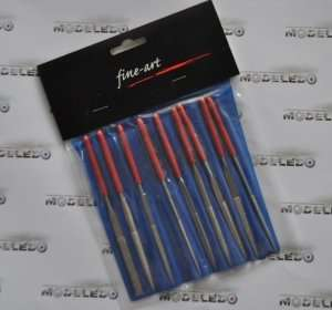 Set of diamond files 10pcs - FA-560