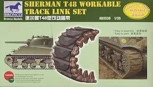 Sherman T48 workable track 1:35