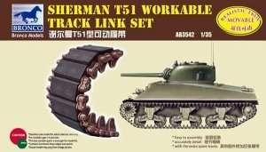Sherman T51 Workable Track Link Set 1:35