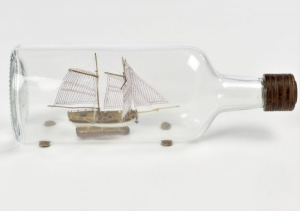 Hannah - ship in bottle - Amati 1355 - wooden ship model kit