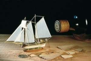Hannah - ship in bottle - Amati 1355 - wooden ship model kit