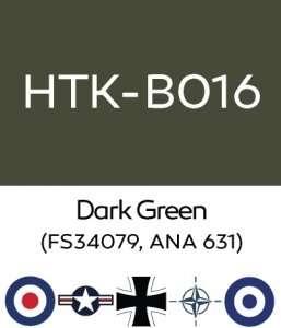 Hataka B016 Dark Green - acrylic paint 10ml