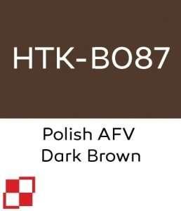 Hataka B087 Polish AFV Dark Brown - acrylic paint 10ml