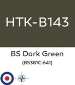 Hataka B143 BS Dark Green - acrylic paint 10ml