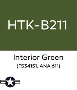 Hataka B211 Interior Green - acrylic paint 10ml
