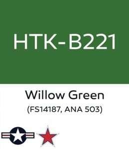Hataka B221 Willow Green - acrylic paint 10ml