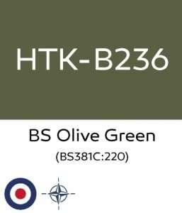Hataka B236 - BS Olive Green - acrylic paint 10ml