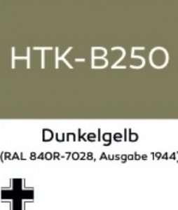 Hataka B250 Dunkelgelb - acrylic paint 10ml