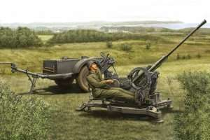 2cm FlaK 38 Late Version /Sd.Ah 51 in scale 1-35 Hobby Boss 80148