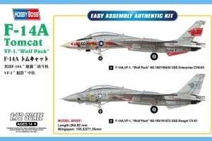 F-14A Tomcat VF-1 Wolf-Pack model Hobby Boss in 1-72
