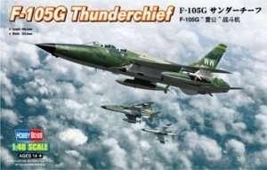 F-105G Thunderchief model in scale 1-48