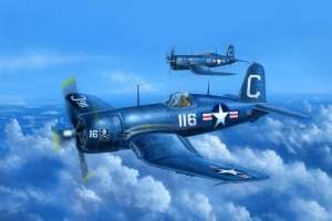 F4U-4 Corsair early version model Hobby Boss in 1-48