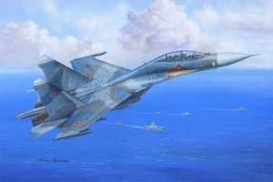 Su-27UB Flanker C in scale 1-48