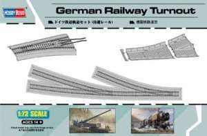 German Railway Turnout model Hobby Boss in 1-72