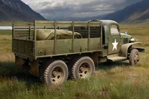 US GMC CCKW-352 Wood Cargo Truck in scale 1-35