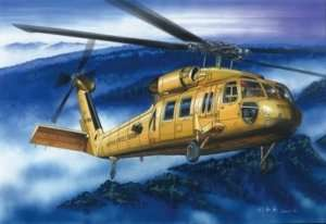American UH-60A Blackhawk Helicopter in scale 1-72