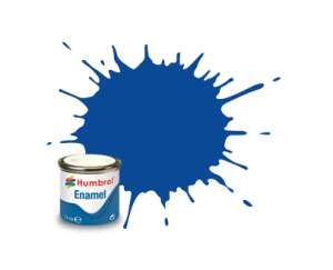 French Blue Gloss - enamel paint 14ml Humbrol 014
