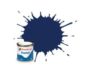 Midnight Blue Gloss - enamel paint 14ml Humbrol 015