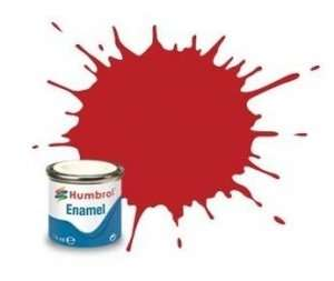 Scarlet Matt - enamel paint 14ml Humbrol 60