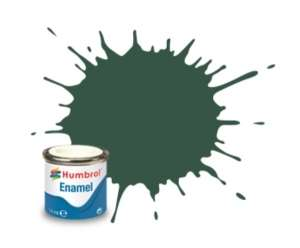 US Dark Green Matt - enamel paint 14ml Humbrol 116