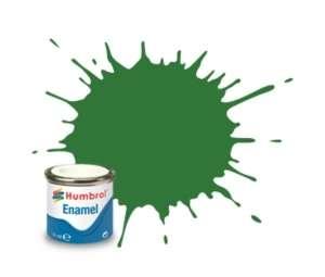 Mid Green Satin - enamel paint 14ml Humbrol 131