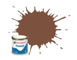 Brown Matt - enamel paint 14ml Humbrol 186