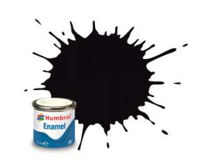 Black Metallic - enamel paint 14ml Humbrol 201