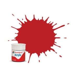 Scarlet Matt - acrylic paint 14ml Humbrol 60