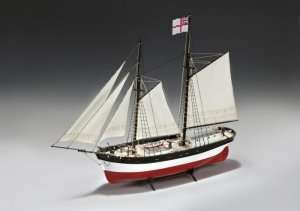 Hunter Q-Ship - Amati 1450 - wooden ship model kit